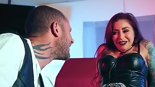 Redhead darling Monique Alexander with tattoos fucked by a large dick