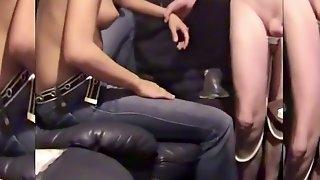 Karoline Giving a Prostate Handjob