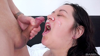 Second-rate lovemaking in the bedroom ends with a facial for Kandi Karter