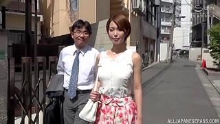Wild fucking with cum loving wife Kimijima Mio on every side chum around with annoy bedroom