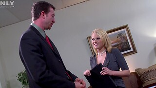 Hardcore fucking nearby the office with a big-busted blonde secretary