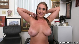 Quickie fucking more than the office table with busty unreserved Skyler Luv
