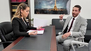 Trimmed pussy boss Alina Lopez wants to loathe fucked firm in the office