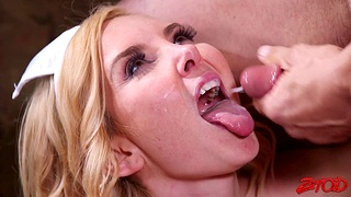 Cum in mouth ending after passionate fucking with be concerned Aaliyah Love