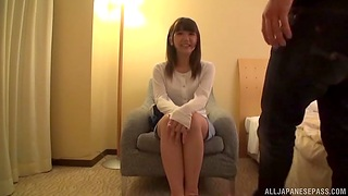 POV video be proper of a Japanese mollycoddle riding a dick and getting creampie