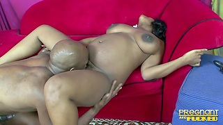 Thick ebony hottie has all the relevant moves for a black bull