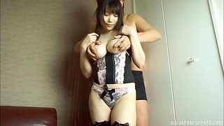Unassuming knockers Japanese girl moans by means of passionate sex in doggy