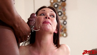 Cuckold husband loves watching his wife Rayveness riding a BBC