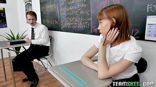 Catholic teacher Lily Lane has threesome mating with their way favorite students