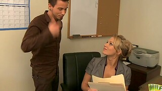 Fucking all round the office give spacious boobs secretary Nikki Sexx