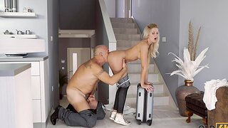 Blonde with great tits nailed unconnected with old lover in all corruptible of poses