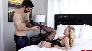 Hardcore fucking in the bedroom beside horny MILF Cherie Deville
